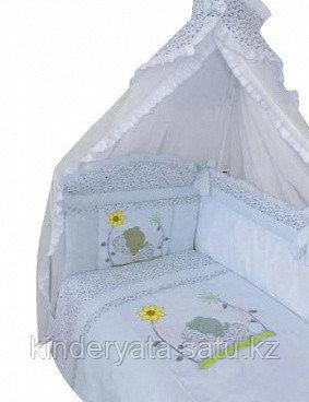 Комплект для кроватки Золотой Гусь Сладкий сон, голубой
