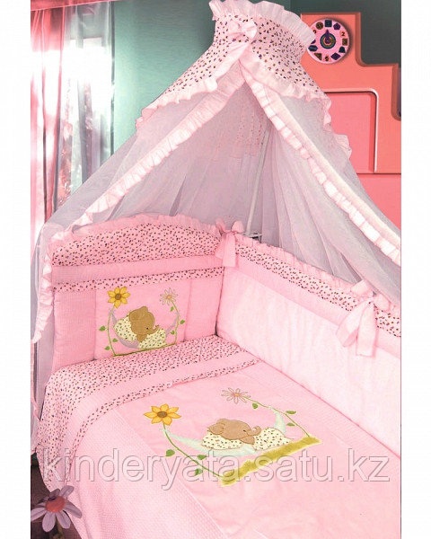 Комплект для кроватки Золотой Гусь Сладкий сон, розовый