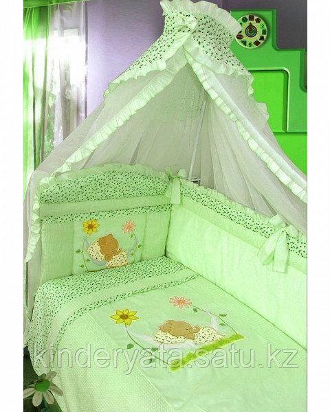 Комплект для кроватки Золотой Гусь Сладкий сон, зеленый
