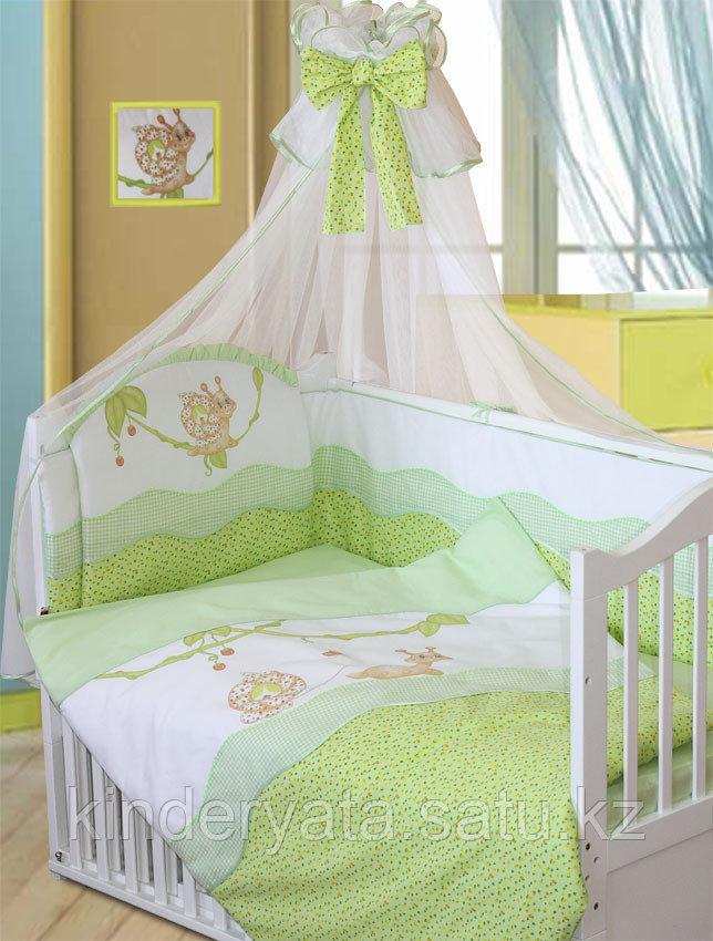 Комплект для кроватки Золотой Гусь Улыбка, зеленый