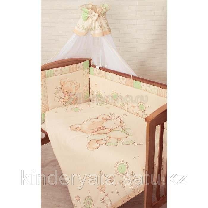 Комплект для кроватки Золотой Гусь MIKA, зеленый