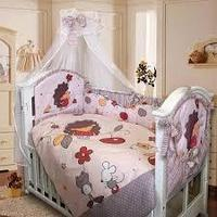Комплект в кроватку Ежик Топа-Топ 8 предметов, бежевый