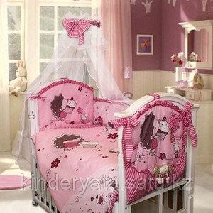 Комплект в кроватку Ежик Топа-Топ 8 предметов, розовый