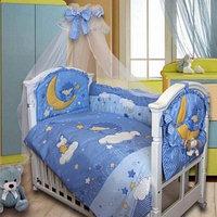 Комплект в кроватку Ежик Топа-Топ 8 предметов, голубой