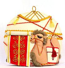 """Сувенир """"Грелка на заварочный чайник """"Юрта и верблюжонок"""""""