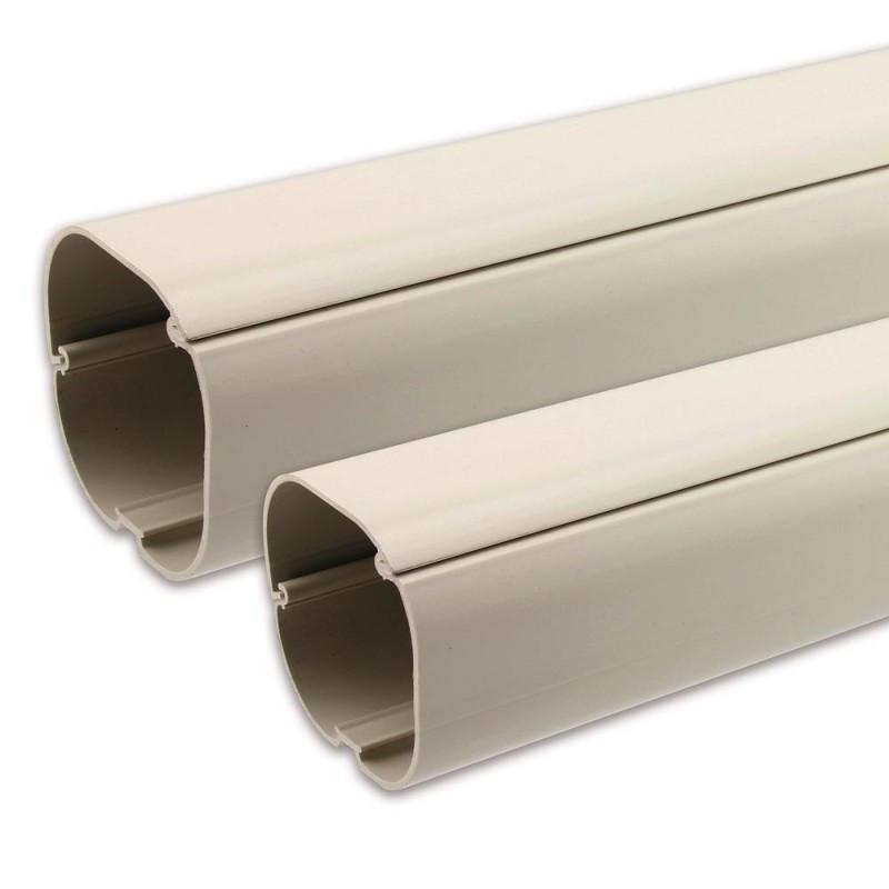 Монтажная труба Quick-Pipe м16, цвет светло-серый, длинна 2м.