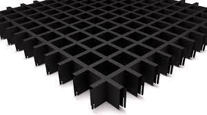 Грильято   50х50 черный(матовый)