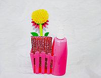 Набор для мыться посуды, розовый