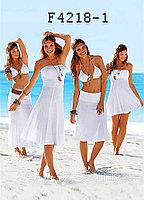 Пляжное платье-Трансформер Белое