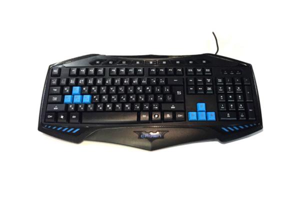 Проводная игровая мультимедийная клавиатура с выделенными клавишами управления. CROWN MICRO CMK-5010H