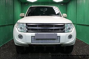 Защита радиатора Mitsubishi Pajero IV 2011-2014 chrome