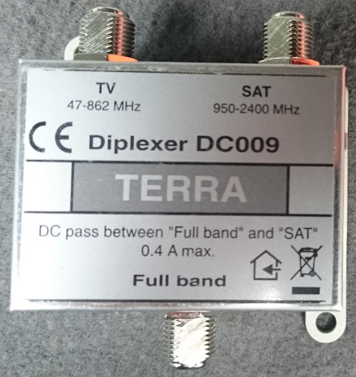 Комбайнер SAT/TV TERRA  Diplexer DC 009