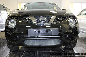 Защита радиатора Nissan Juke 2014- chrome низ