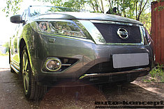 Защитно-декоративные решётки радиатора Nissan Pathfinder 2014-
