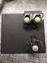 Комплект с жемчугом / серебро