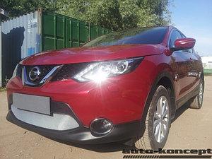 Защита радиатора Nissan Qashqai 2014- chrome