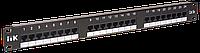 ITK 1U патч-панель кат.5Е UTP, 24 порта (IDC Krone)