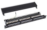 ITK 1U патч-панель кат.6 STP, 24 порта (Dual), с кабельным органайзером