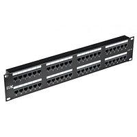 ITK 2U патч-панель кат.6 UTP, 48 портов (Dual), с каб. орг-м