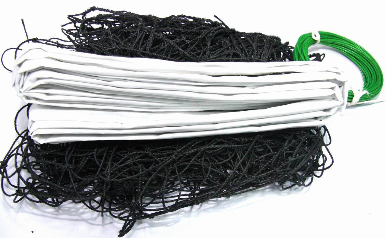 Волейбольная сетка, нить D-2мм, трос D-3мм