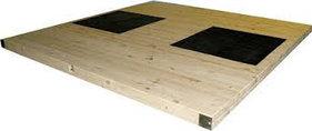 Помост тяжёлоатлетический, тренировочный 4х4х0,1 метр