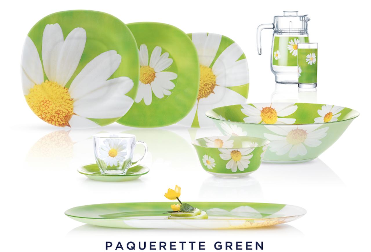 Столовый сервиз Luminarc Paquerette green 46 предметов на 6 персон