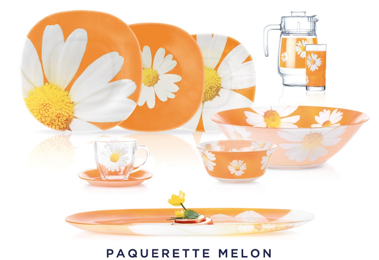Столовый сервиз Luminarc Paquerette Melon 46 предметов на 6 персон