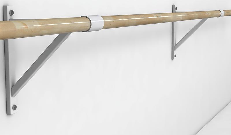 Балетный станок однорядный настенный 2м-2,6 м