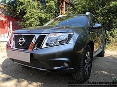 Защитно-декоративные решётки радиатора Nissan Terrano 2014-