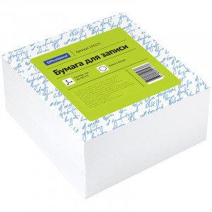 Блок для записи OfficeSpace, 9*9*4,5см, белый