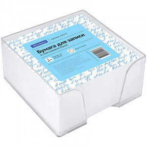 Блок для записи OfficeSpace, 9*9*4,5см, пластиковый бокс, белый, фото 2