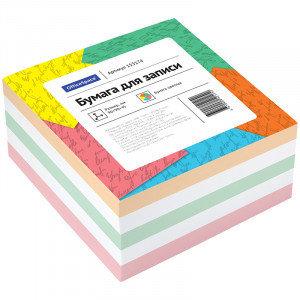 Блок для записи OfficeSpace, 9*9*4,5см, цветной, фото 2