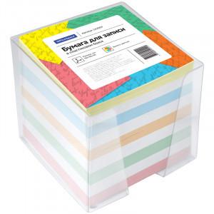Блок для записи OfficeSpace, 9*9*9см, пластиковый бокс, цветной