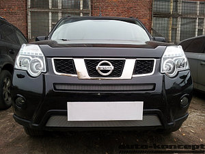 Защита радиатора Nissan X-Trail 2011-2014 chrome низ