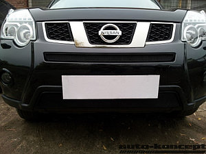 Защита радиатора Nissan X-Trail 2011-2014 black середина