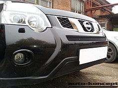 Защитно-декоративные решётки радиатора Nissan X-Trail 2011-2014