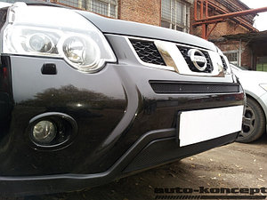 Защита радиатора Nissan X-Trail 2011-2014 black низ