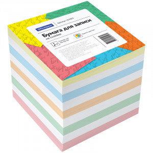 Блок для записи на склейке OfficeSpace, 9*9*9см, цветной, фото 2