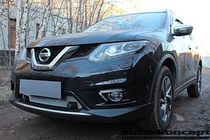Защита радиатора Nissan X-Trail T32 2015- c парктроником chrome низ