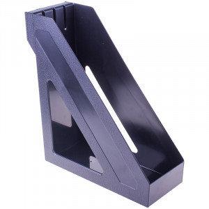 """Лоток для бумаг вертикальный Стамм """"Базис"""", черный"""