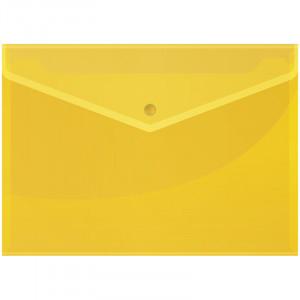 Папка-скоросшиватель пластик. А4 OfficeSpace, 160мкм, желтая с прозр. верхом