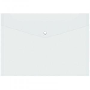 Папка-конверт на кнопке А4 OfficeSpace, 150мкм, прозрачная