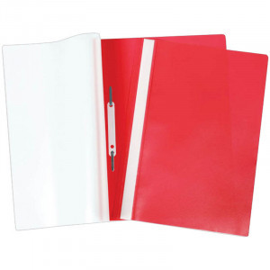 Папка-скоросшиватель пластик. А4 OfficeSpace, 160мкм, красная с прозр. верхом
