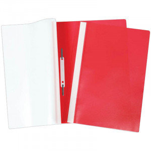 Папка-скоросшиватель пластик. А4 OfficeSpace, 160мкм, красная с прозр. верхом, фото 2