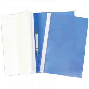 Папка-скоросшиватель пластик. А4 OfficeSpace, 160мкм, синяя с прозр. верхом