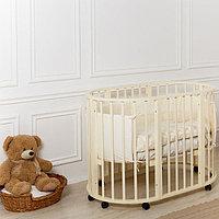 Детская кровать овальная Николь Слоновая кость (Мой малыш, Россия)