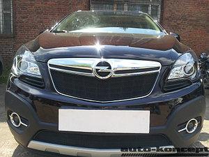 Защита радиатора Opel Mokka 2012- black верх