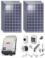 Солнечная станция сетевая, мощностью 5кВт в час, 380В