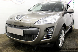 Защита радиатора Peugeot 4007 2007-2013 black низ