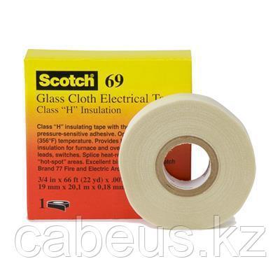 (UU004904940) Scotch 69 Стекловолоконная электроизоляционная лента 19мм х 33м
